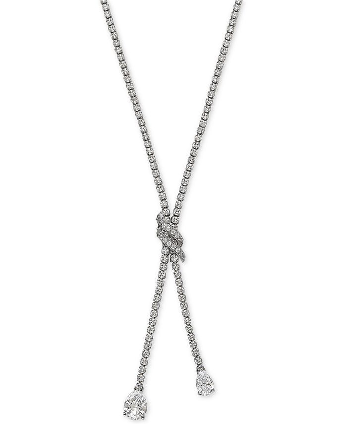 Macy's - Arabella Swarovski Zirconia Lariat Necklace in Sterling Silver