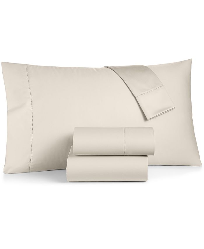Charter Club - Damask Solid Cotton 550-Thread Count King Fitted Sheet