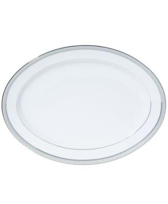 Platinum Crown Oval Platter