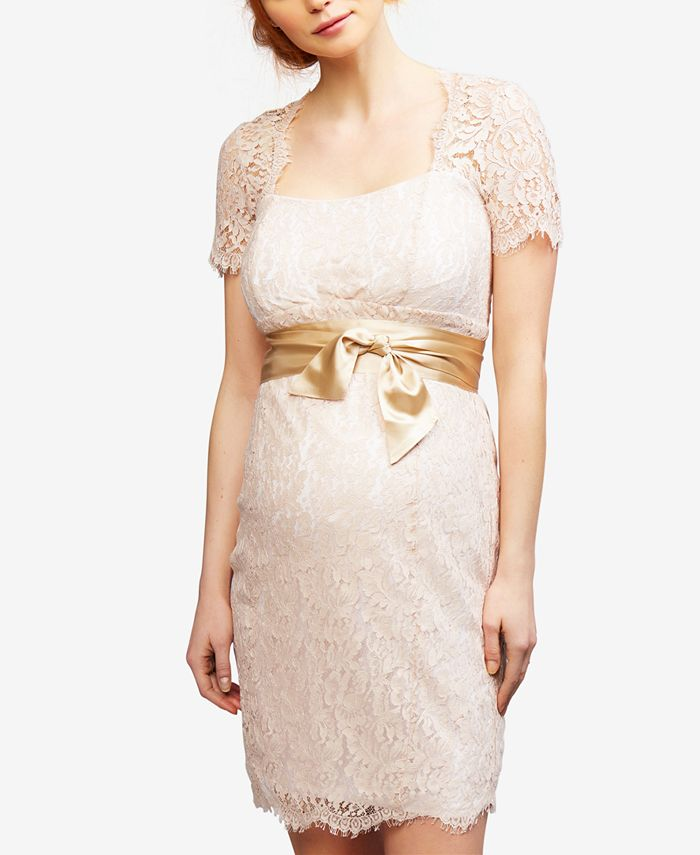 Seraphine - Maternity Lace Sheath Dress