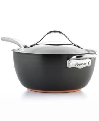 Anolon Nouvelle Hard-Anodized Copper 5.5 Qt. Covered Saucier