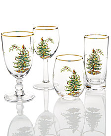 Spode Christmas Tree Collection Glassware Collection