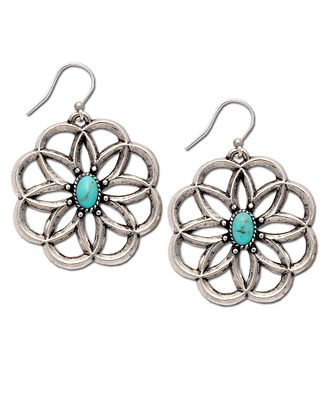 Lucky brand earrings carved flower jewelry watches for Macy s lucky brand jewelry