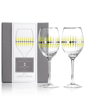 Charter Club Glassware, Set of 2 Novelty Fizz Wine Glasses