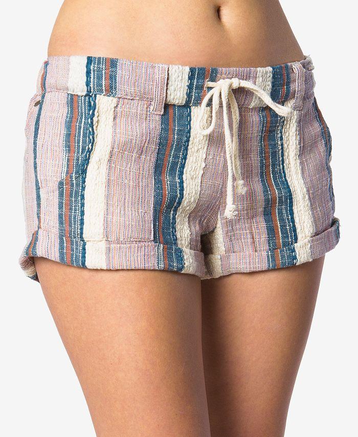O'Neill - Juniors' Malina Cotton Striped Shorts