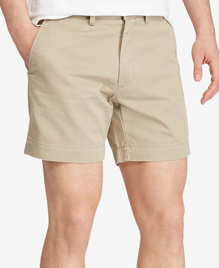 Polo Ralph Lauren - Classic-Fit Flat-Front Chino Shorts