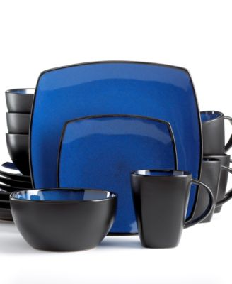 Gibson Soho Lounge Blue 16-Piece Set