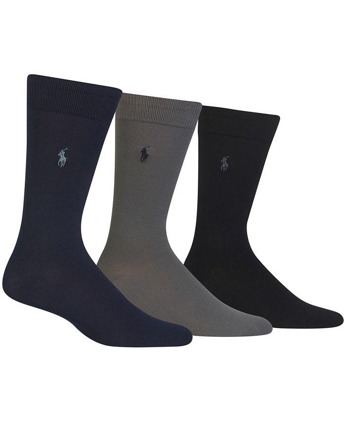 Polo Ralph Lauren - Men's 3-Pk. Super-Soft Dress Socks