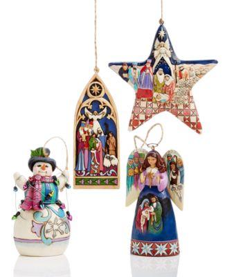 Jim Shore Cross-Shaped Holy Family Hanging Ornament