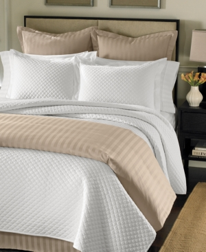 Charter Club Bedding, Damask Quilted Full/Queen 3 Piece Coverlet Set Bedding
