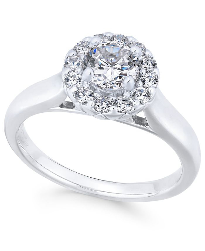 X3 - Diamond Engagement Ring (1 ct. t.w.) in 18k White Gold