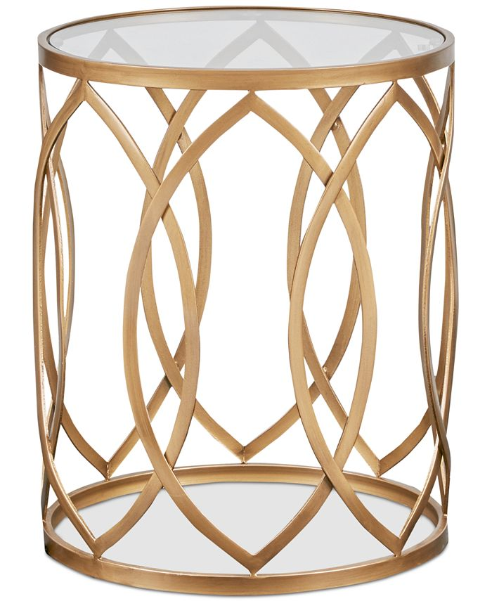 Furniture - Arlo Metal Eyelet Accent Table, Quick Ship