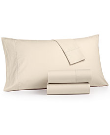 Martha Stewart Collection 4-Pc. California King Sheet Set, 400 Thread Count 100% Cotton Percale, Created for Macy's