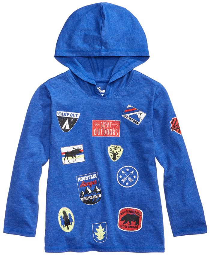 Epic Threads - Wilderness Patch Hoodie, Toddler & Little Boys (2T-7)