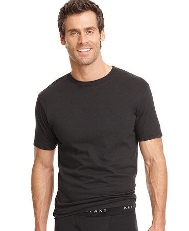 Alfani men 39 s underwear crew neck t shirt 3 pack for Alfani mens shirt size chart