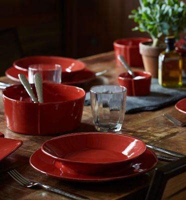 Lastra Red Collection Square Handled Platter
