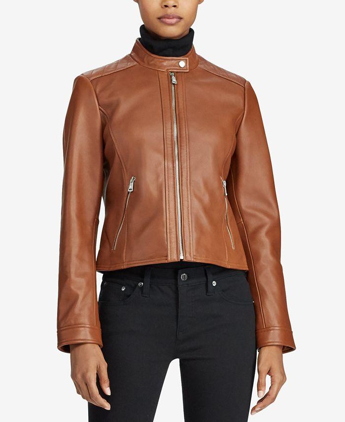 Lauren Ralph Lauren - Quilted Leather Jacket