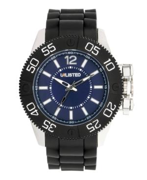 Unlisted Watch, Men's Black Polyurethane Strap UL1185