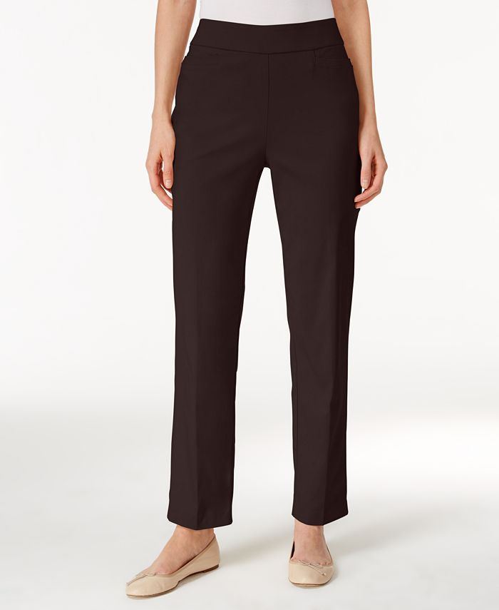 Alfred Dunner - Petite Pull-On Straight-Leg Pants