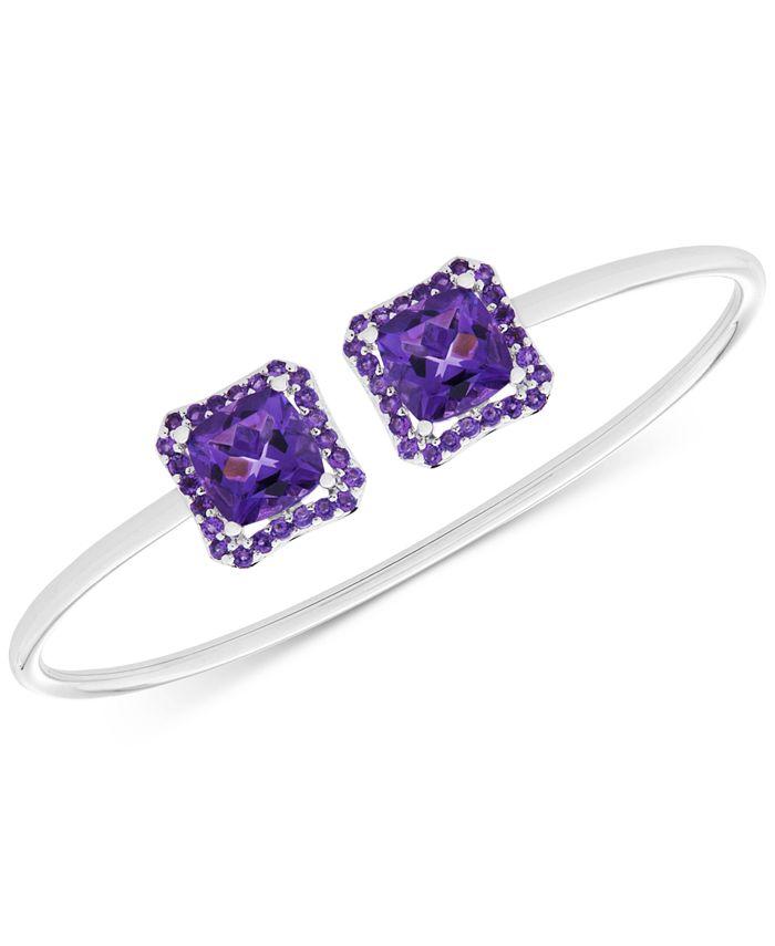 Macy's - Amethyst Cuff Bangle Bracelet (5 ct. t.w.) in Sterling Silver