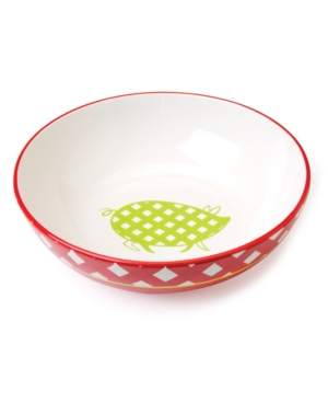 Clay Art Dinnerware, Gingham Barbecue Serving Bowl