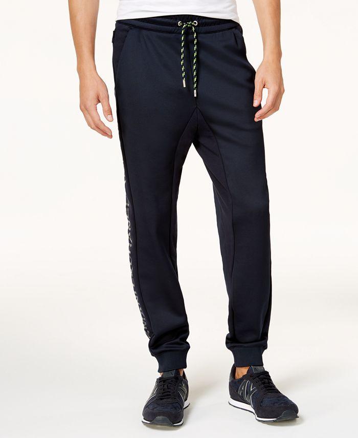 A|X Armani Exchange - Men's Pieced Logo Print Jogger Pants
