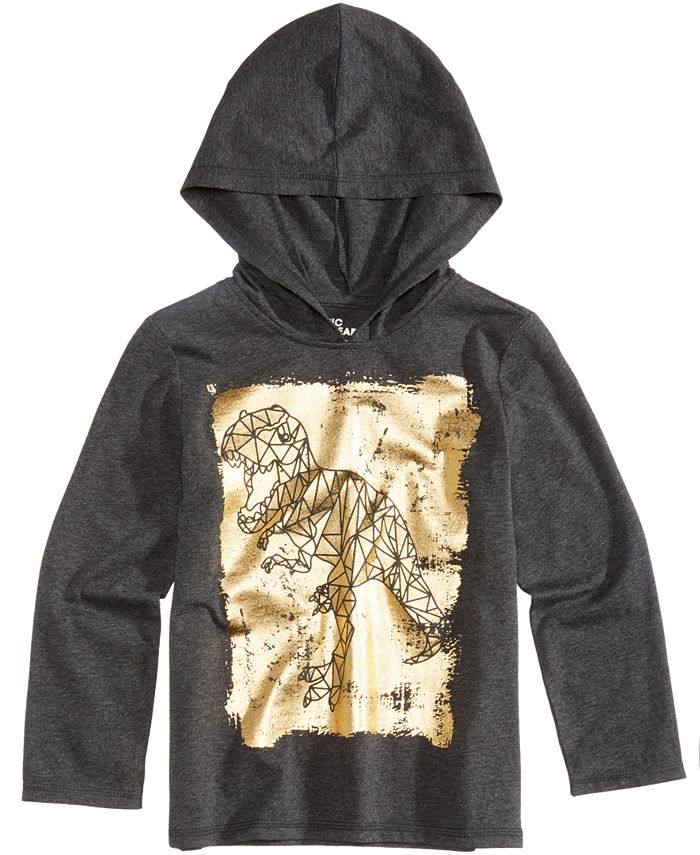 Epic Threads - Dinosaur Graphic-Print Hooded Shirt, Toddler & Little Boys (2T-7)