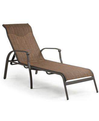 Vintage aluminum outdoor chaise lounge furniture macy 39 s for Aluminum chaise lounge outdoor