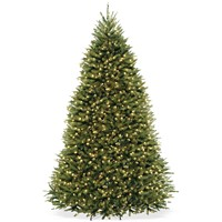 Deals on National Tree Company 9-ft Dunhill Fir Tree w/Clear Lights