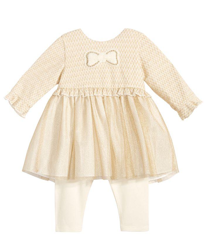 Marmellata - 2-Pc. Ruffle-Trim Tunic & Leggings Set, Baby Girls (0-24 months)