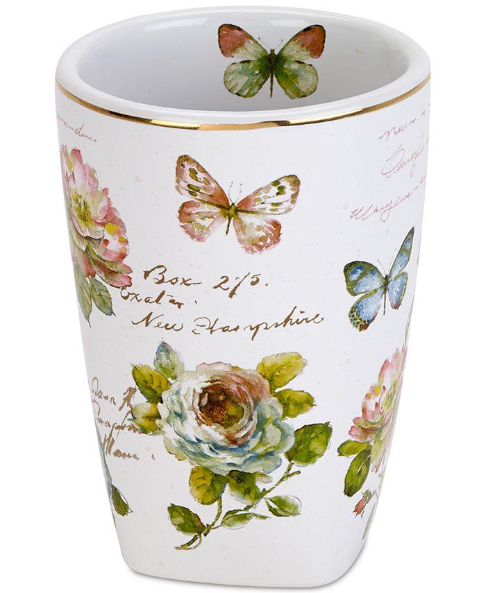 Avanti - White Butterfly Garden Tumbler