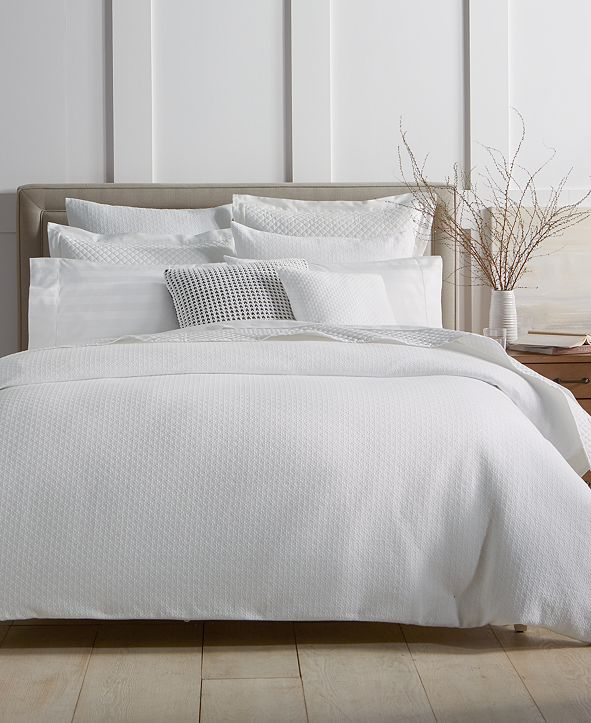 Charter Club Diamond Dot 300-Thread Count 2-Pc. Twin Comforter Set, Created for Macy's