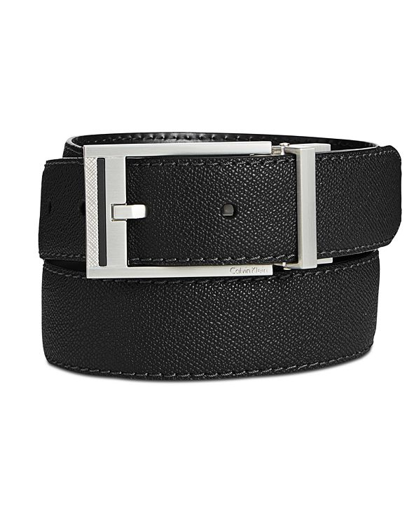 Calvin Klein Men's Reversible Leather Stitched Casual Belt