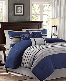 Madison Park Palmer Microsuede 7-Pc. California King Comforter Set