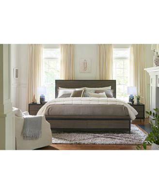 Avery Brown King Storage Bed