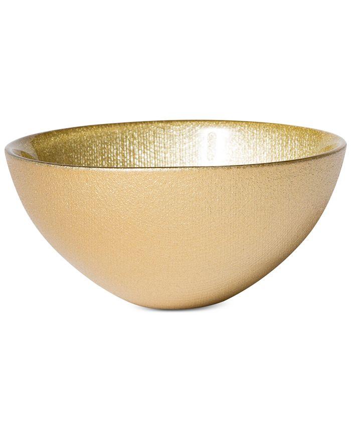 VIETRI - Glitter Glass Gold Small Bowl