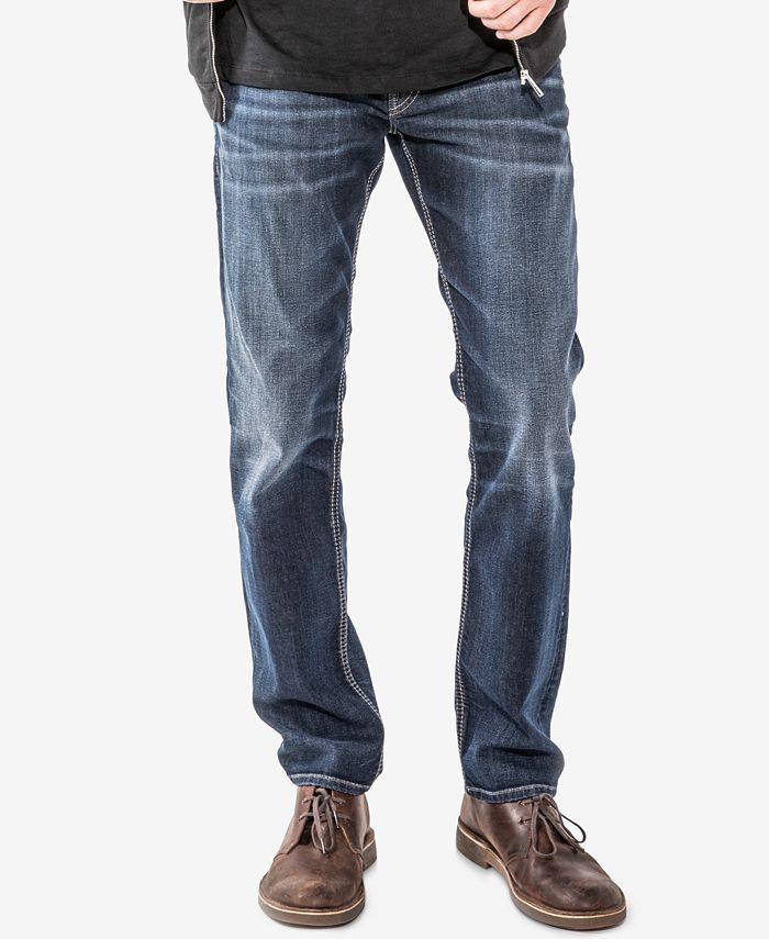 Silver Jeans Co. - Men's Allan Classic-Fit Stretch Jeans