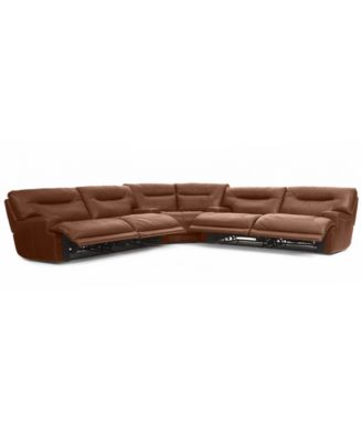 Ricardo Leather 3 Piece Power Reclining Sectional Sofa