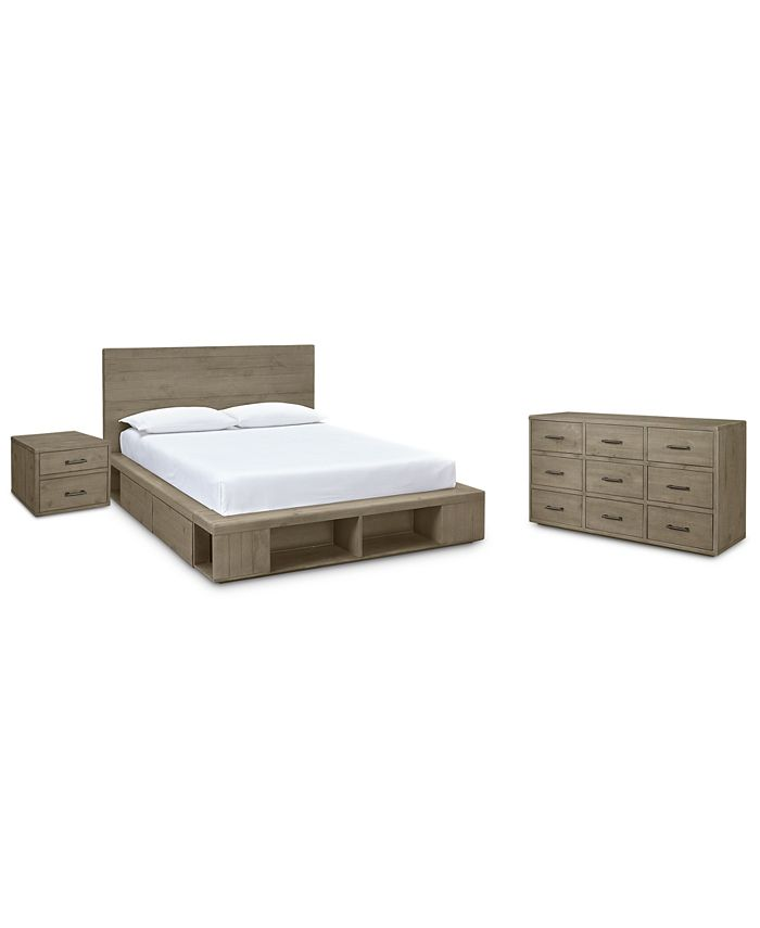 Furniture - Brandon Storage Platform Bedroom , 3-Pc. Set (California King Bed, Dresser & Nightstand), Created for Macy's