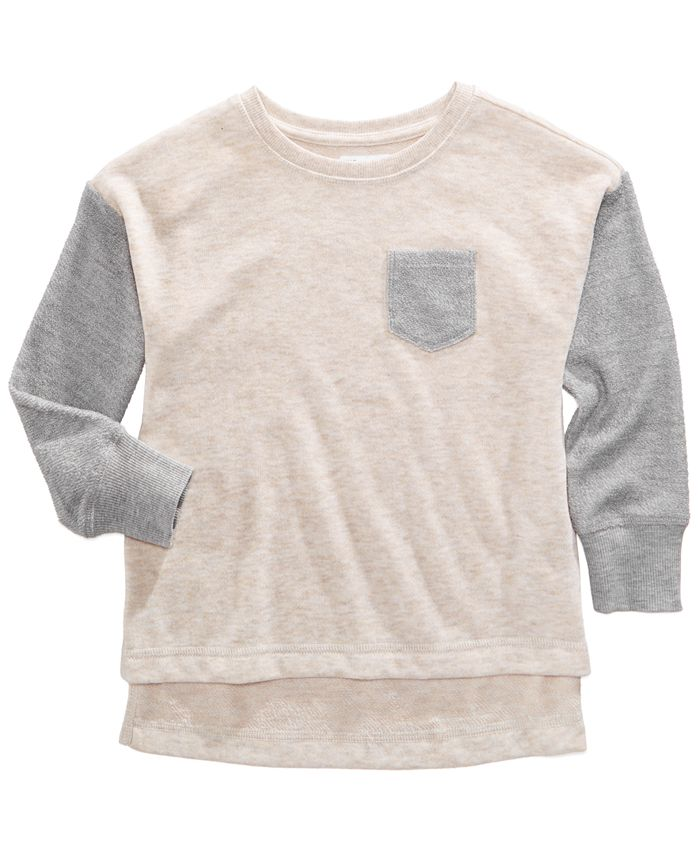 Epic Threads - Colorblocked French Terry Pullover Sweatshirt, Toddler Girls (2T-5T)