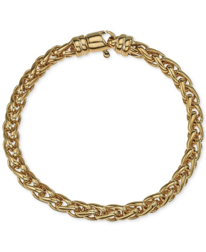 Esquire Men's Jewelry Chain Bracelet in 14k Gold-Plated Sterling Silver, Created for Macy's & Reviews - Bracelets - Jewelry & Watches - Macy's