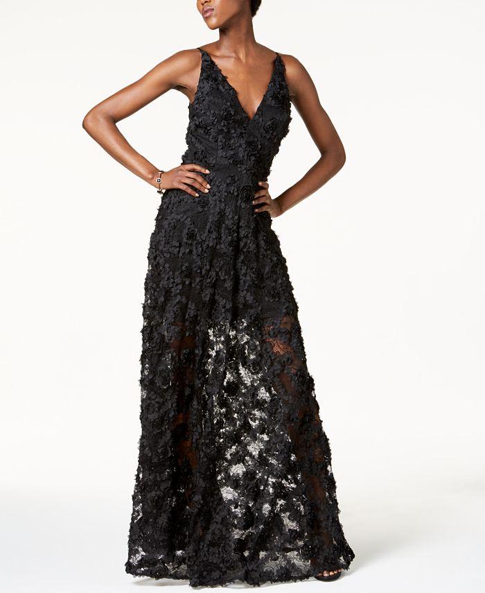 Xscape Floral Lace Gown Reviews Dresses Women Macy S