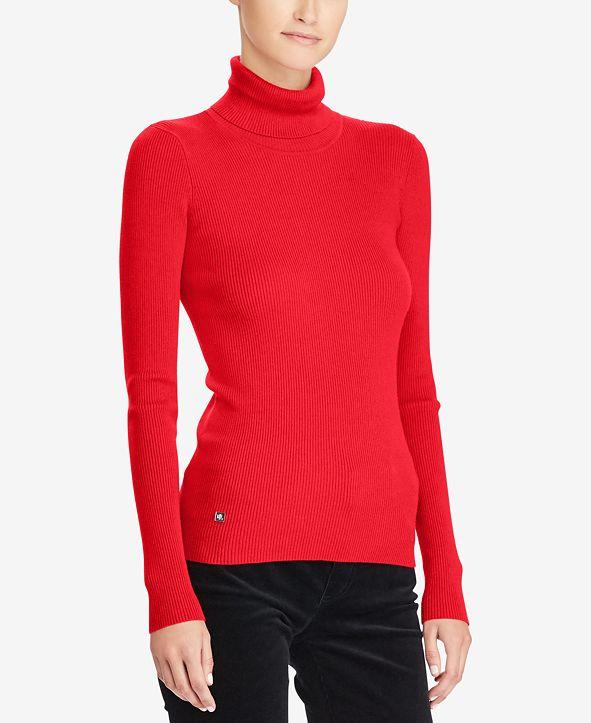Lauren Ralph Lauren Ribbed Turtleneck Sweater, Regular & Petite Sizes