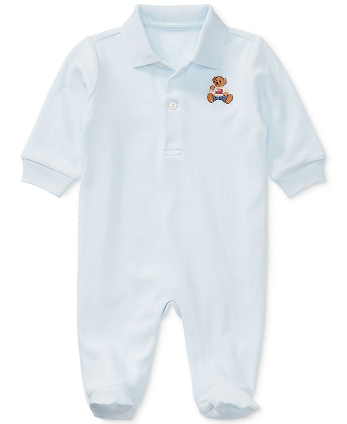 Polo Ralph Lauren - Embroidered Polo Bear Cotton Coverall, Baby Boys (0-24 months)
