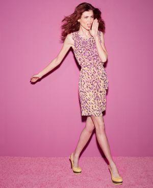Matthew Williamson for Macy's Sleeveless Printed Ruffle Dress