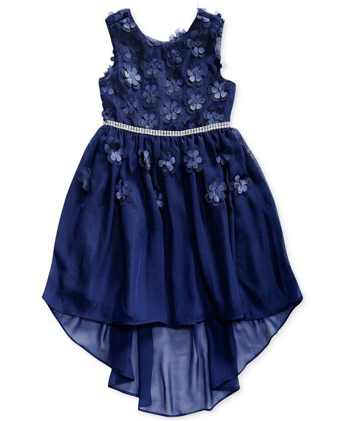 Sweet Heart Rose - Floral Appliqué Dress, Toddler Girls (2T-5T)