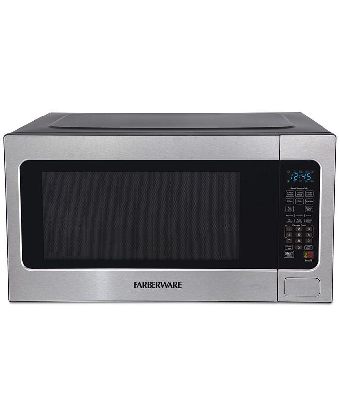 Farberware - Professional FMO22ABTBKA 2.2 Cu. Ft. 1200-Watt Microwave Oven with Smart Sensor Cooking, Stainless Steel
