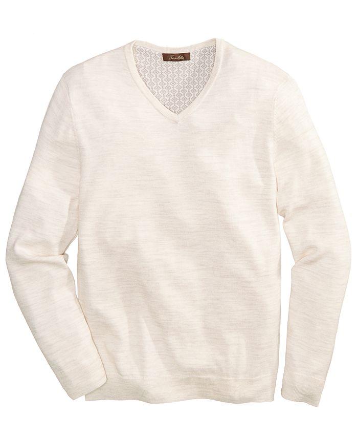 Tasso Elba - Men's Merino V-Neck Sweater