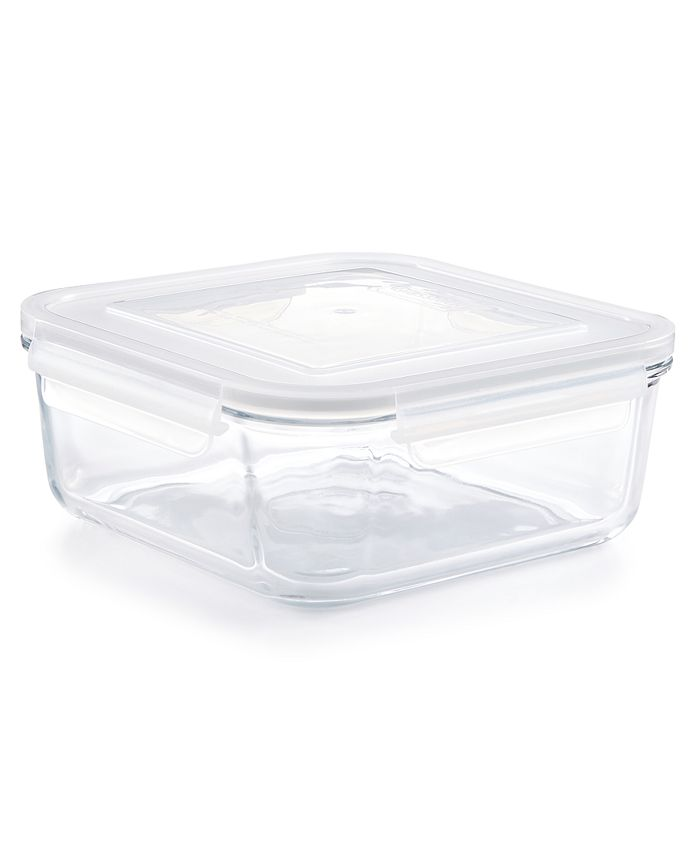 Martha Stewart Collection - Square 2.45-Qt. Glass Storage Container