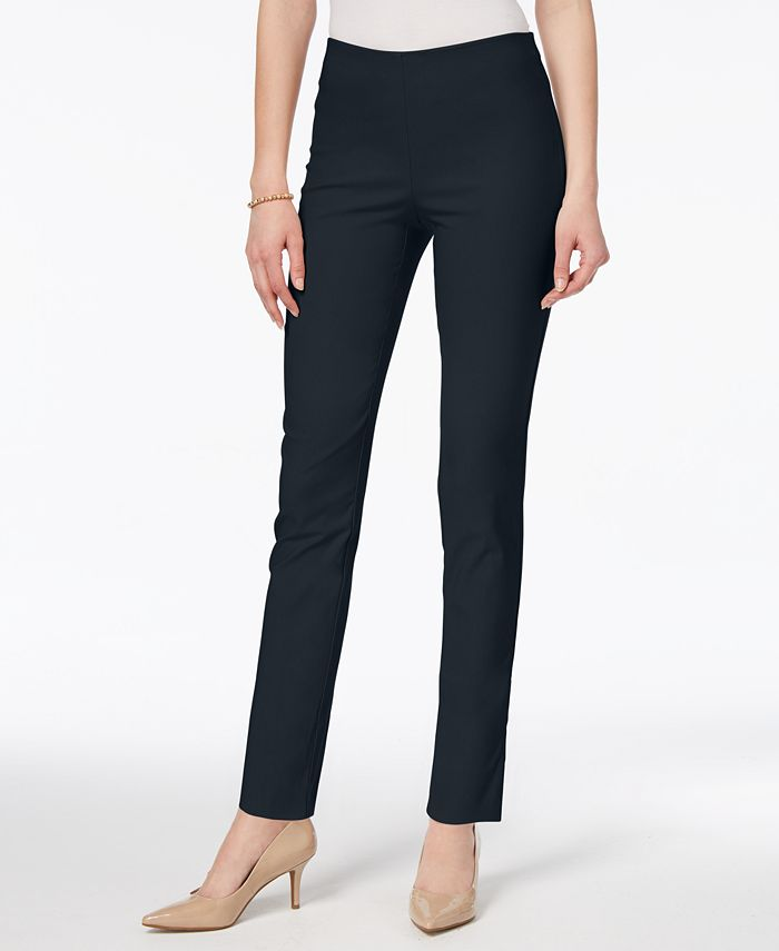 Charter Club - Tummy Control Pull-On Skinny Pants, Created for Macy's